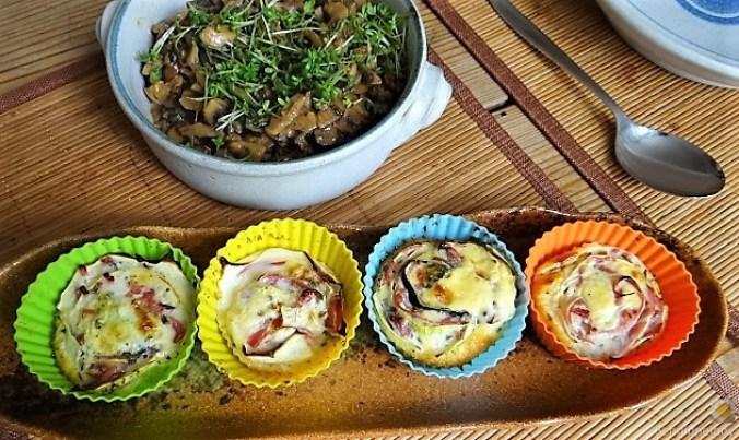 Zucchini Röllchen mit Champignon (18)