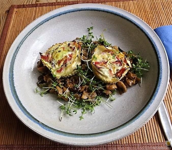 Zucchini Röllchen mit Champignon (2)