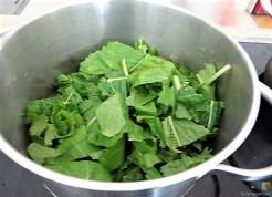 Gedämpftes Gemüse, Ernußsauce und Polenta, (19)