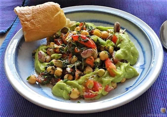 Kichererbsensalat mit Guacamole (27)