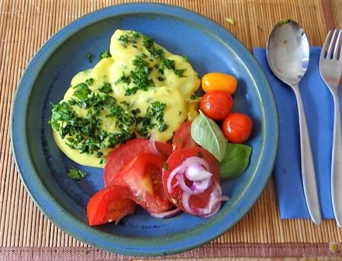 Béchamelkartoffeln und Tomaten (4)