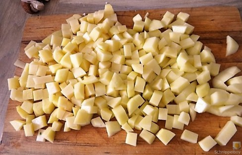 Bratkartoffeln mit Champignon und buntem Salat (8)