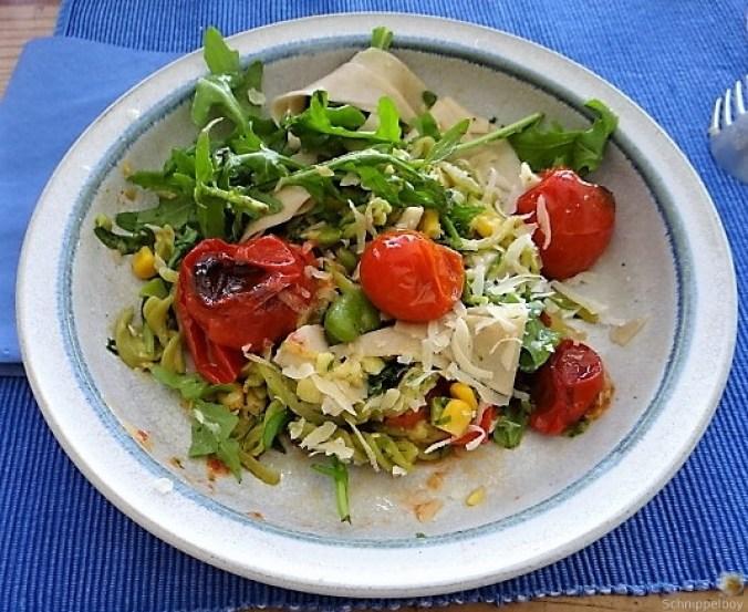 Buchweizenpasta mit verschiedenen Gemüsen (4)