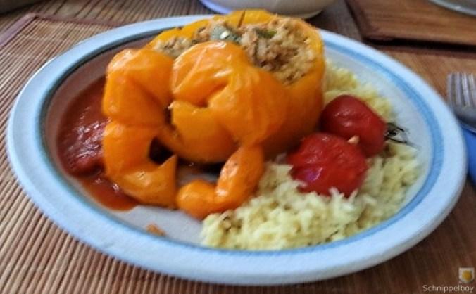 Gefüllte Paprika mit Tomatensauce und Reis (19)