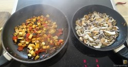 Zucchini Zoodles, Gemüse und Meeresfrüchte (10)
