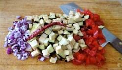 Zucchini Zoodles, Gemüse und Meeresfrüchte (9)