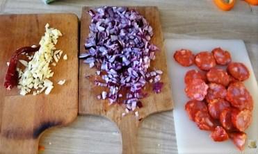 Chorizo, Spinat-Tomaten, Pasta (9)