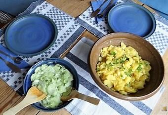 Grüner Hering, Kartoffelsalat, Gurkensalat (19)