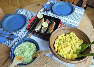 Grüner Hering, Kartoffelsalat, Gurkensalat (20)