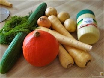 Pastinaken Puffer und Kürbis Hummus (8)