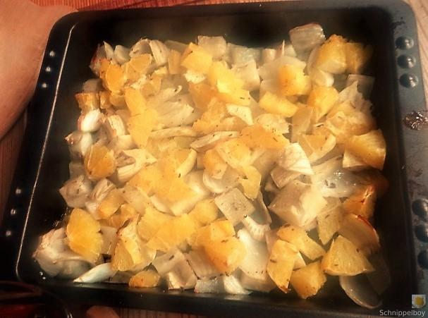 Safran-Polenta mit Fenchel-Orangen aus dem Ofen (15)