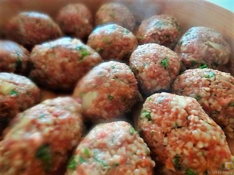 Bulgur-Hack Klößchen, Spitzkohl Salat, Tzatziki, Apfel Crumble (16)