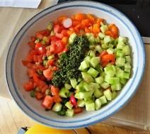 Bunter Salat und Quittenauflauf (11)