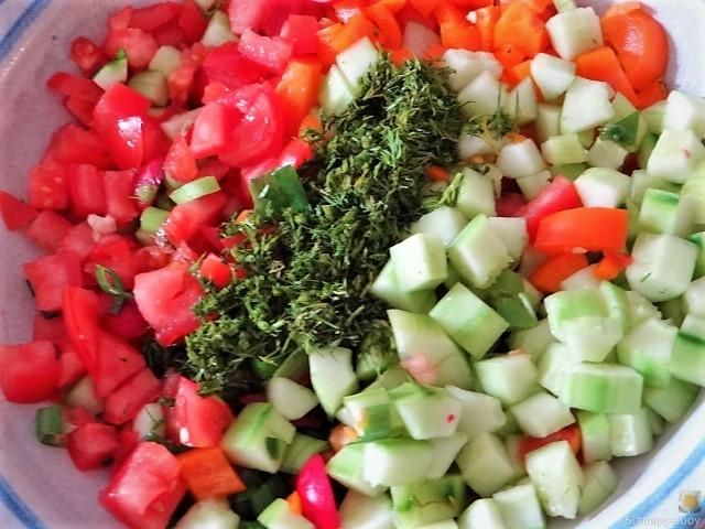 Bunter Salat und Quittenauflauf (12)