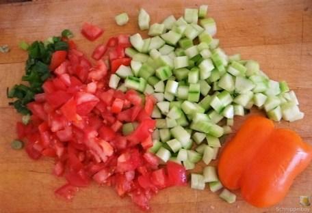 Bunter Salat und Quittenauflauf (9)