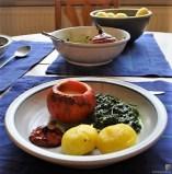 Spinat mit Kürbis und Ei (32)