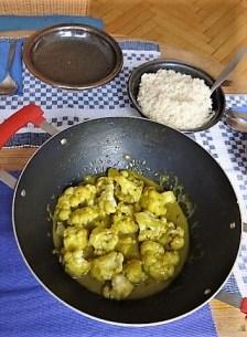 Blumenkohl Curry und Reis (16)