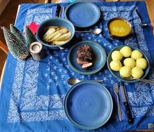 Entenbrust, Orangensauce, Klöße und Chicoree (20)
