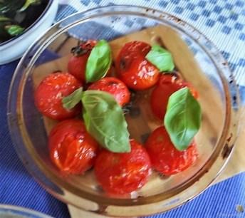 Gemüse, Rührei, aufgebackene Kürbisküchlein (14)