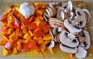 Pürierter Hokkaido und Kartoffelstampf mit Champignon und Apfel-Crumble (9)