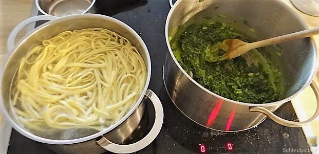 Selbstgemachte Nudeln, Spinat und Burrata (21)