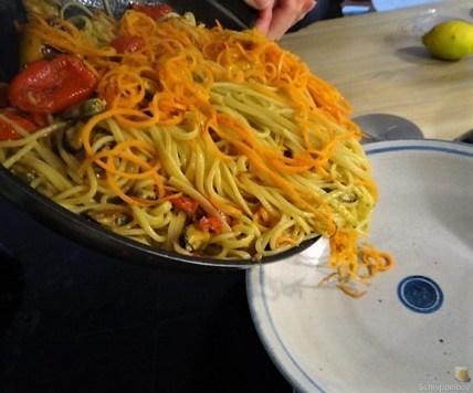 Spaghetti mit Muscheln, Nußkuchen (12)