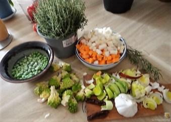 Gemüsesuppe und Joghurtspeise (11)