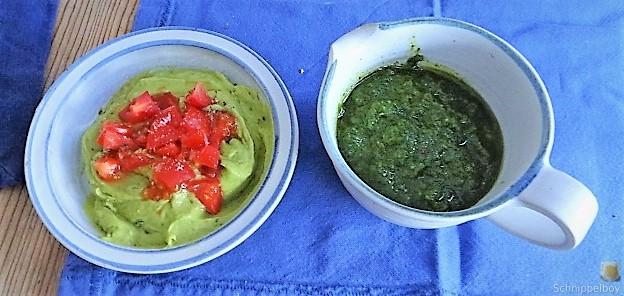 Paprika, Petersilienöl, Guacamole, Couscous (13)