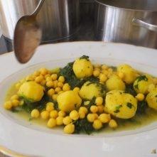 Kichererbsen mit Kartoffeln, Spinat-Tomaten (16)