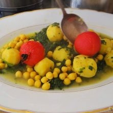 Kichererbsen mit Kartoffeln, Spinat-Tomaten (17)
