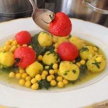 Kichererbsen mit Kartoffeln, Spinat-Tomaten (18)