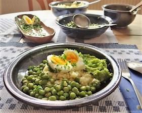 Erbsen mit Couscous und Erbspüree (17)