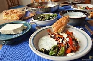 Gemüse-Portulakpfanne mit Joghurtdip (23)