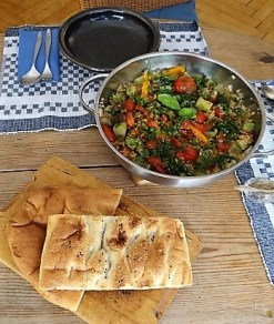 Zucchini-Gemüse mit Bulgur in Olivenöl (15)