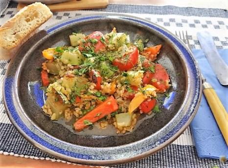 Zucchini-Gemüse mit Bulgur in Olivenöl (17)