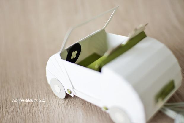 Ein Hochzeitsauto frs Brautpaar  schnipseldesign
