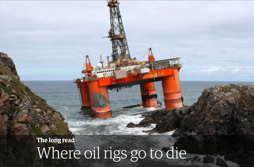 Read this: Where oil rigs go to die