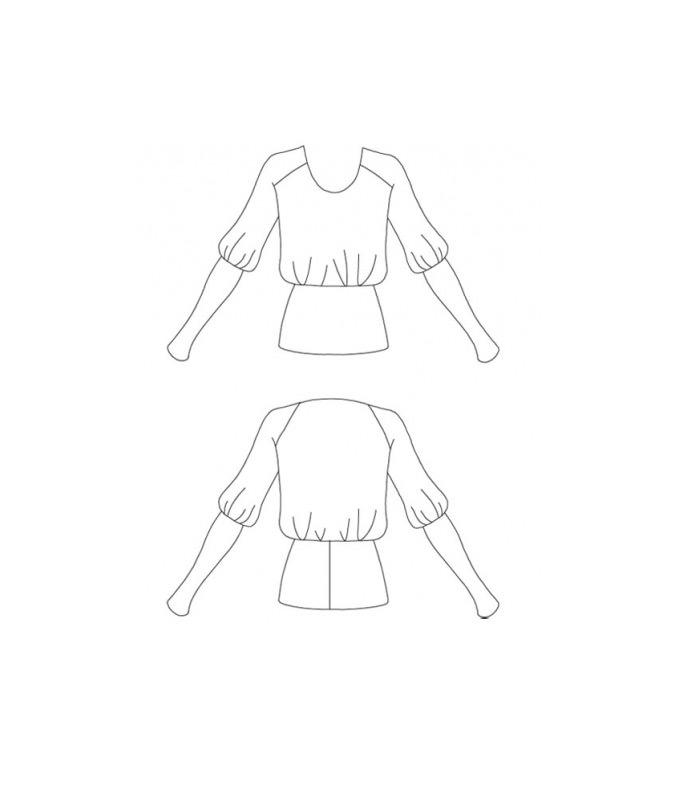 Einfaches Schnittmuster für ein Shirt mit breitem Bund