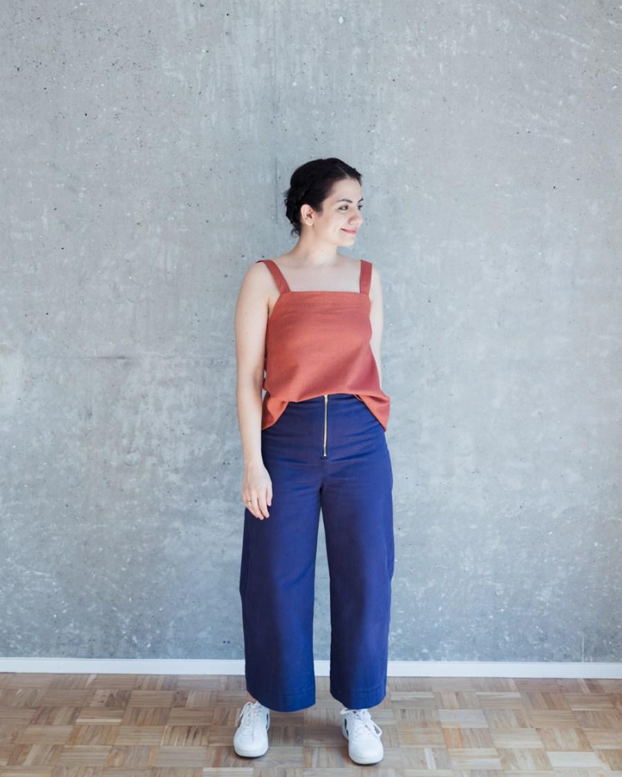 Hose Nähen Schritt für Schritt: Schnittmuster High Waist Hose & Shorts Lola - Schnittduett - Moderne Schnittmuster für Damen