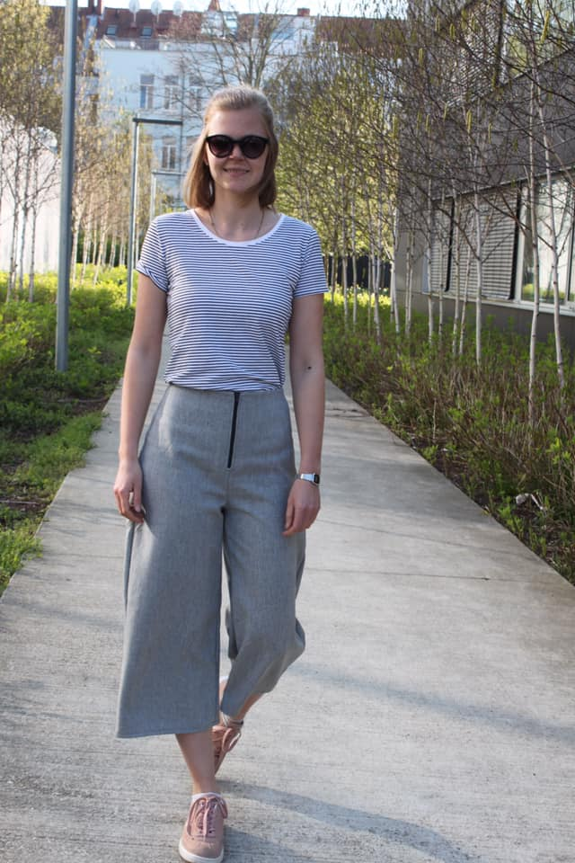 Schnittmuster High Waist Hose und Shorts Lola mit weiten Beinen - Schnittduett - Moderne Schnittmuster für Damen