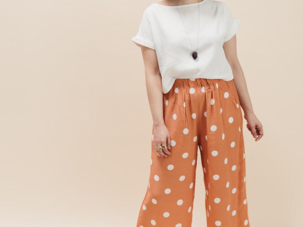 Schnittmuster Culotte und Blusenshirt Bloom - Culotte selbst nähen - Schnittduett