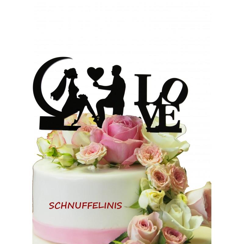Cake topper Hochzeitstorte Honeymoon Heiratsantrag