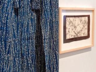 Detail Kimono und Katagami-Schablone - Die Logik des Regens, Dresden