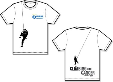 2012 Climbing For Cancer Event Tee