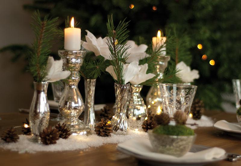 Dekoidee ein glitzernder Winterwald als weihnachtliche Tischdeko  Schn bei dir by DEPOT