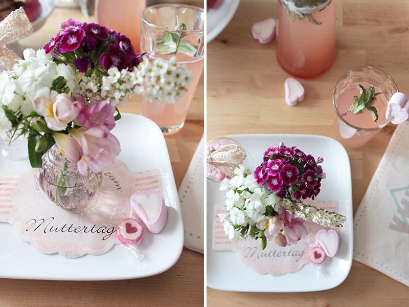 Gedeckter Tisch zum Muttertagsfrhstck  Schn bei dir by