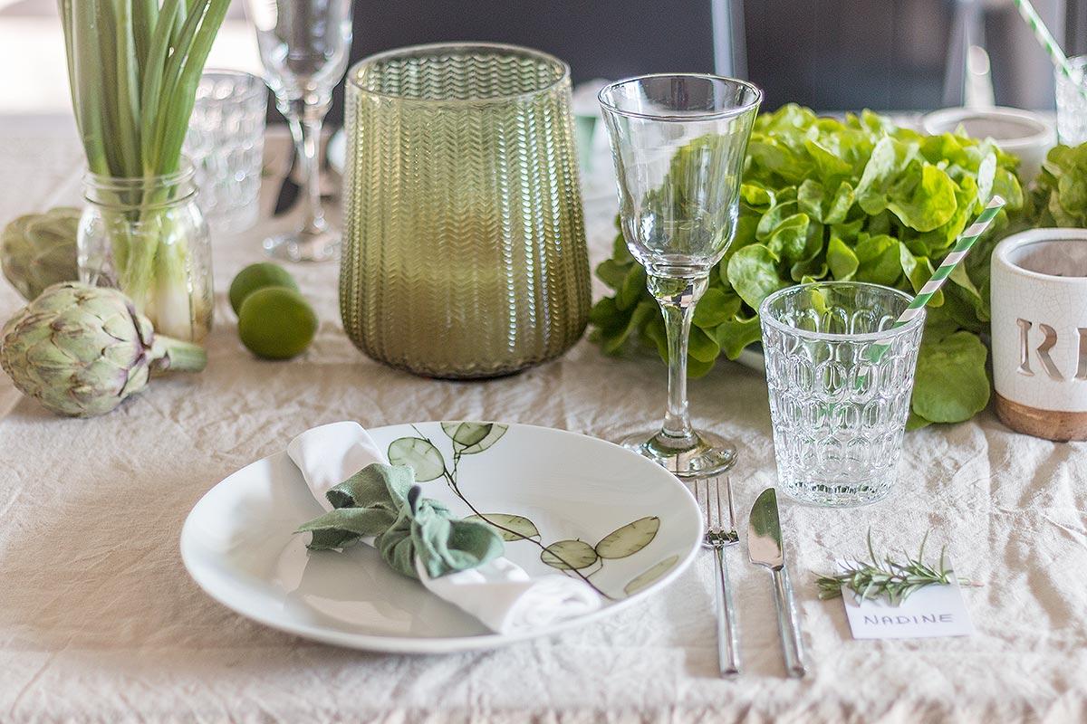 TREND Greenery Tischdeko mit Gemse  Schn bei dir by DEPOT