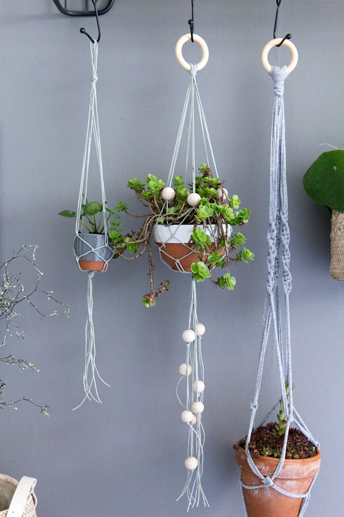 Kreativ Basteln Ideen Makramee Blumenampel - Do It Yourself!