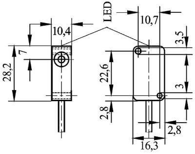 IBHT3814 / Inductive Proximity Sensors (DC Rectangular