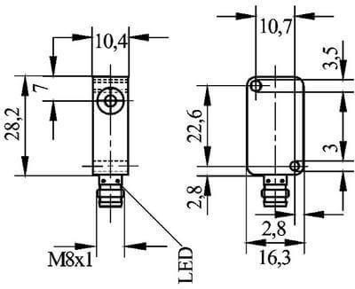 INRD3814 / Inductive Proximity Sensors (DC Rectangular